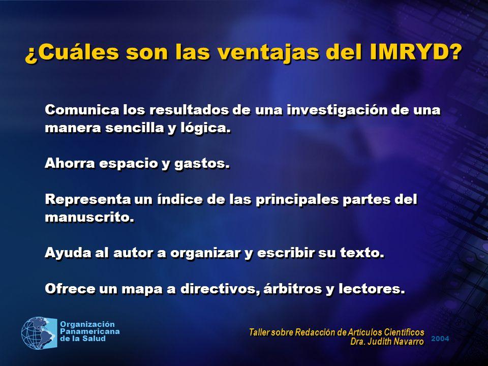 ¿Cuáles son las ventajas del IMRYD