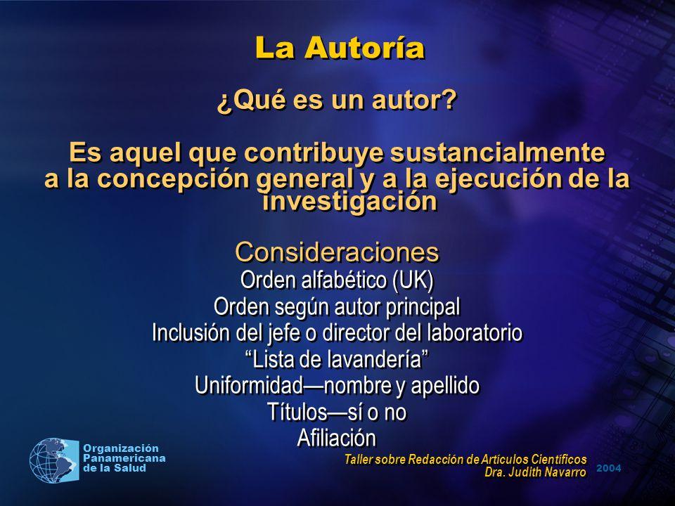 La Autoría ¿Qué es un autor Es aquel que contribuye sustancialmente