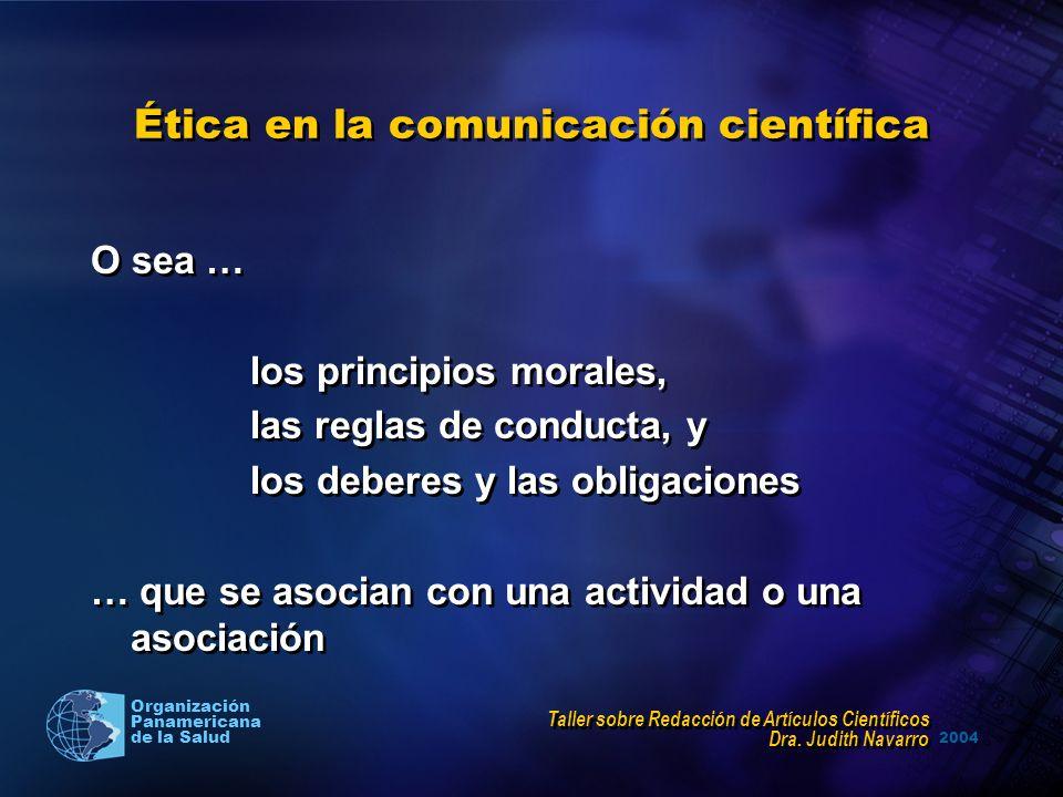 Ética en la comunicación científica