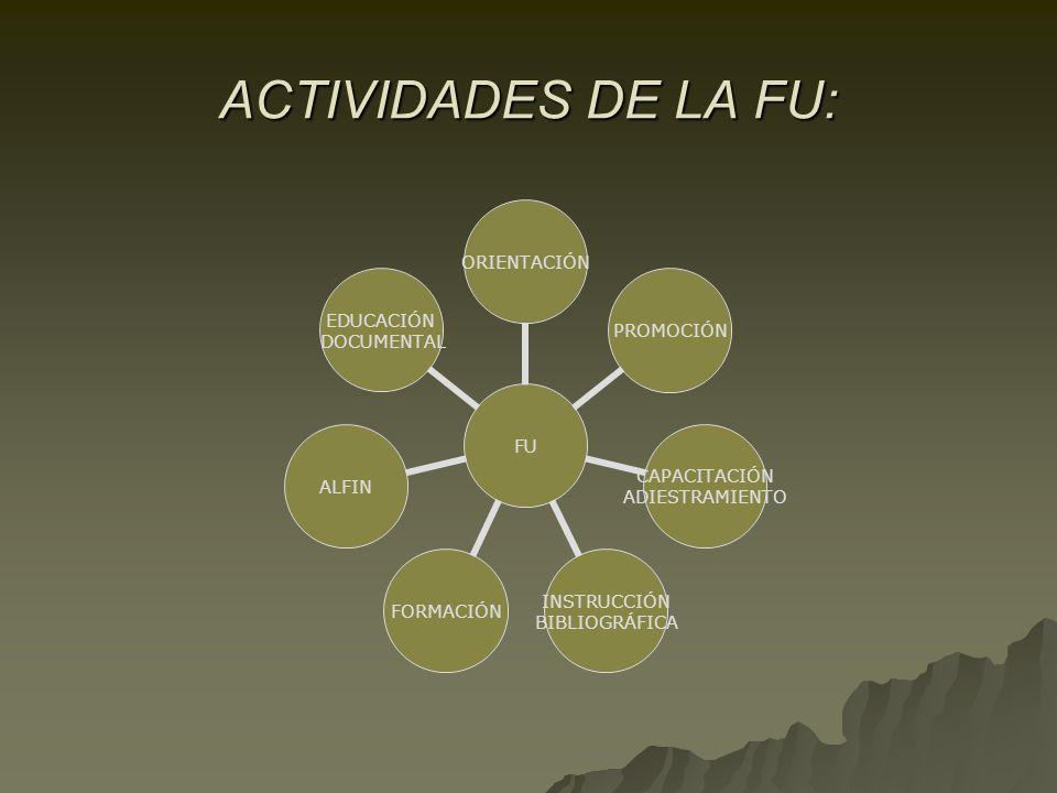 ACTIVIDADES DE LA FU: