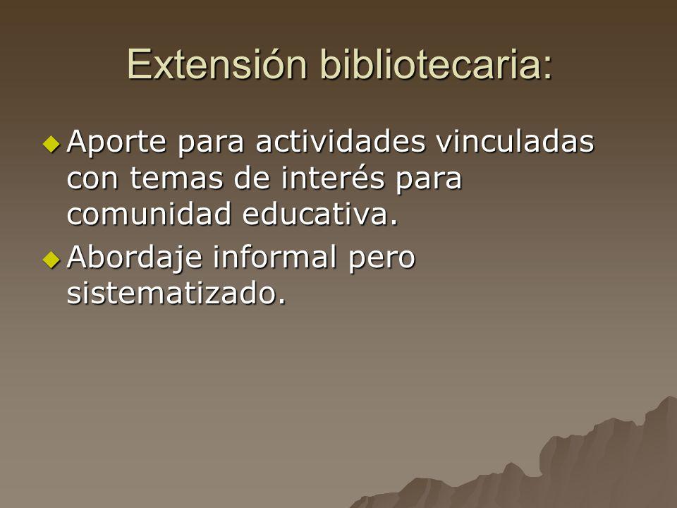 Extensión bibliotecaria: