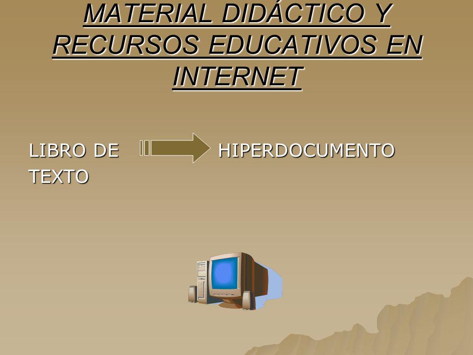 MATERIAL DIDÁCTICO Y RECURSOS EDUCATIVOS EN INTERNET
