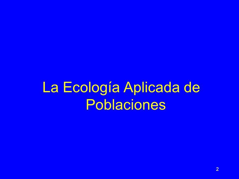 La Ecología Aplicada de Poblaciones