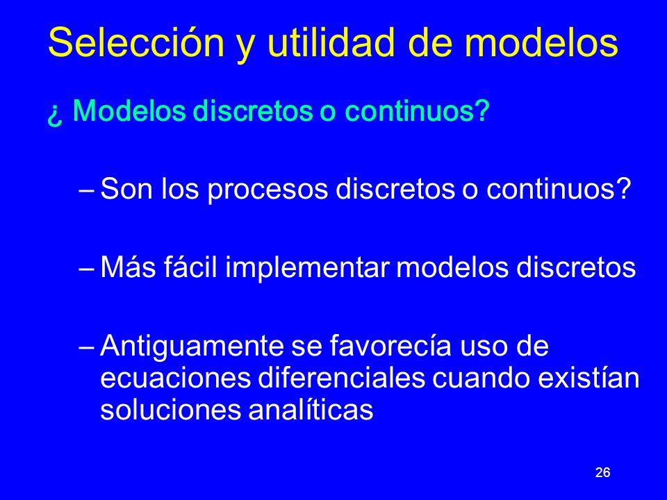 Selección y utilidad de modelos