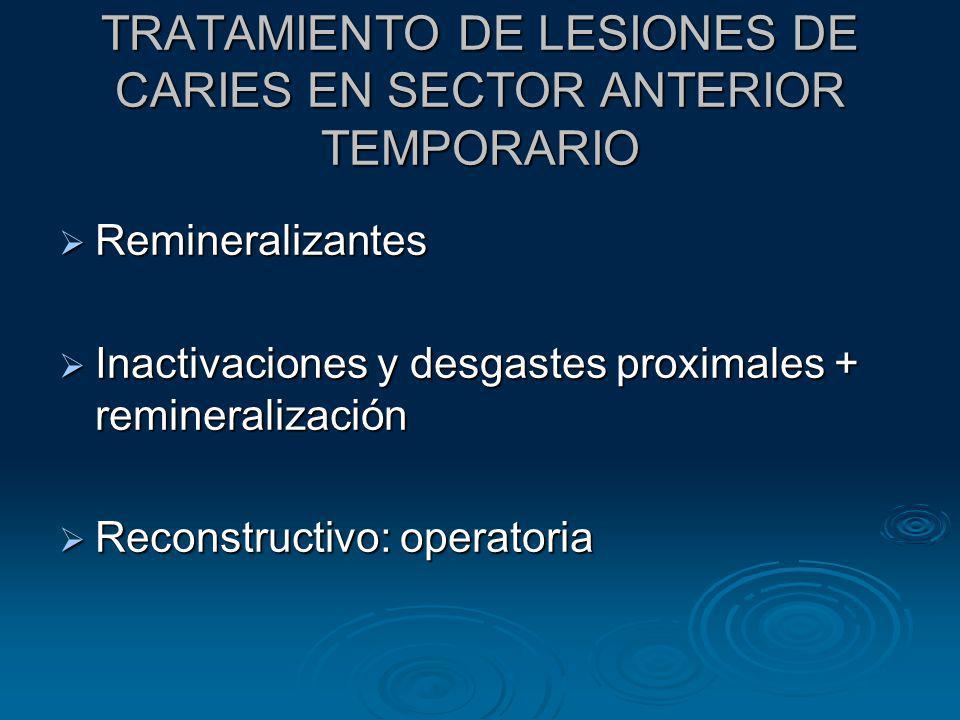 TRATAMIENTO DE LESIONES DE CARIES EN SECTOR ANTERIOR TEMPORARIO
