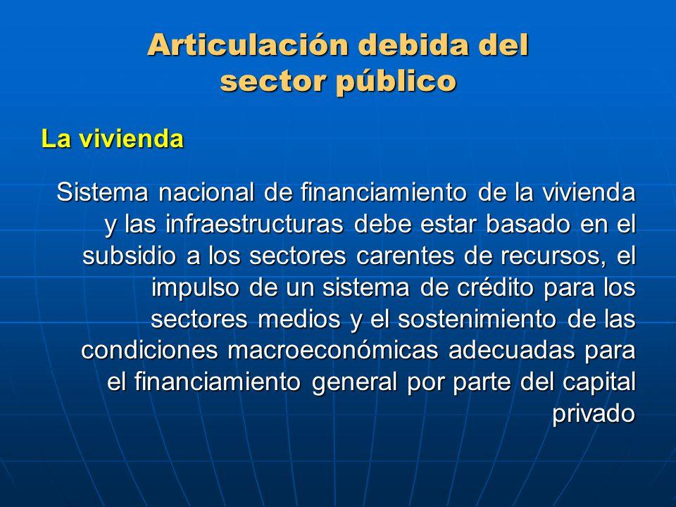 Articulación debida del sector público