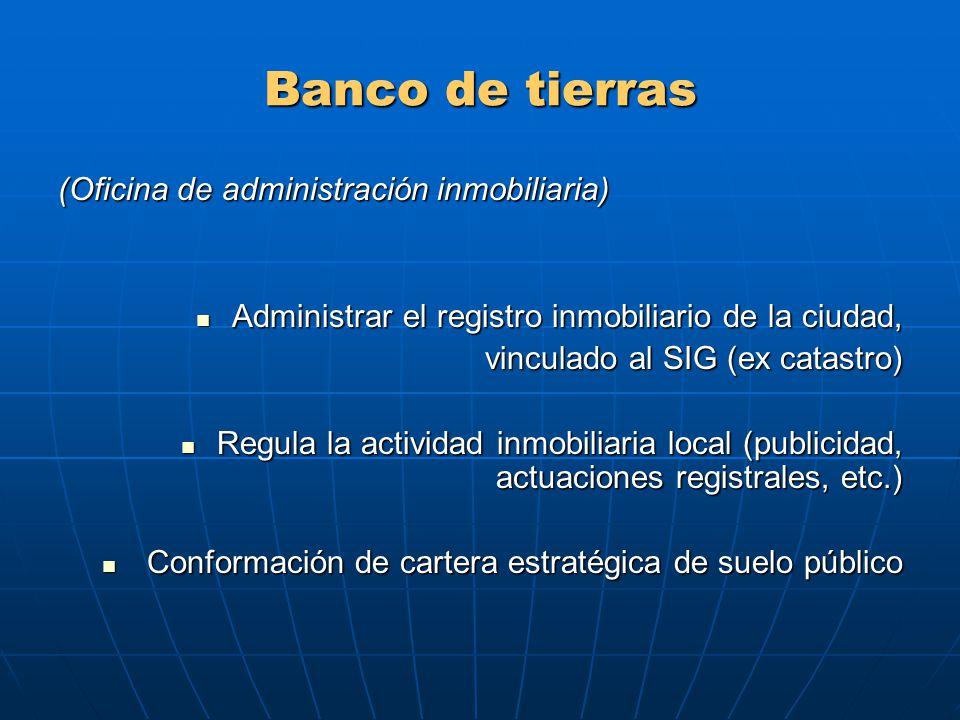 Banco de tierras (Oficina de administración inmobiliaria)