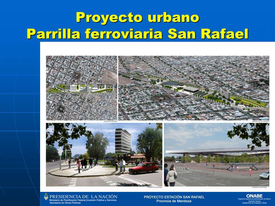 Proyecto urbano Parrilla ferroviaria San Rafael