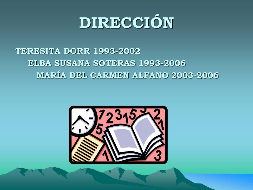 DIRECCIÓN TERESITA DORR 1993-2002 ELBA SUSANA SOTERAS 1993-2006