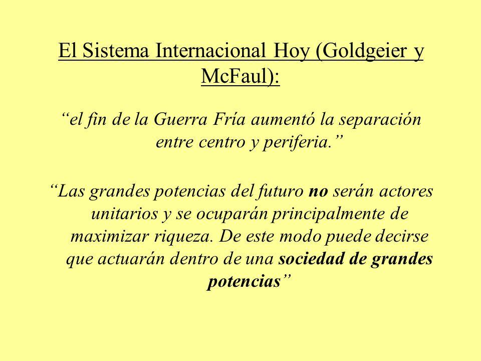 El Sistema Internacional Hoy (Goldgeier y McFaul):