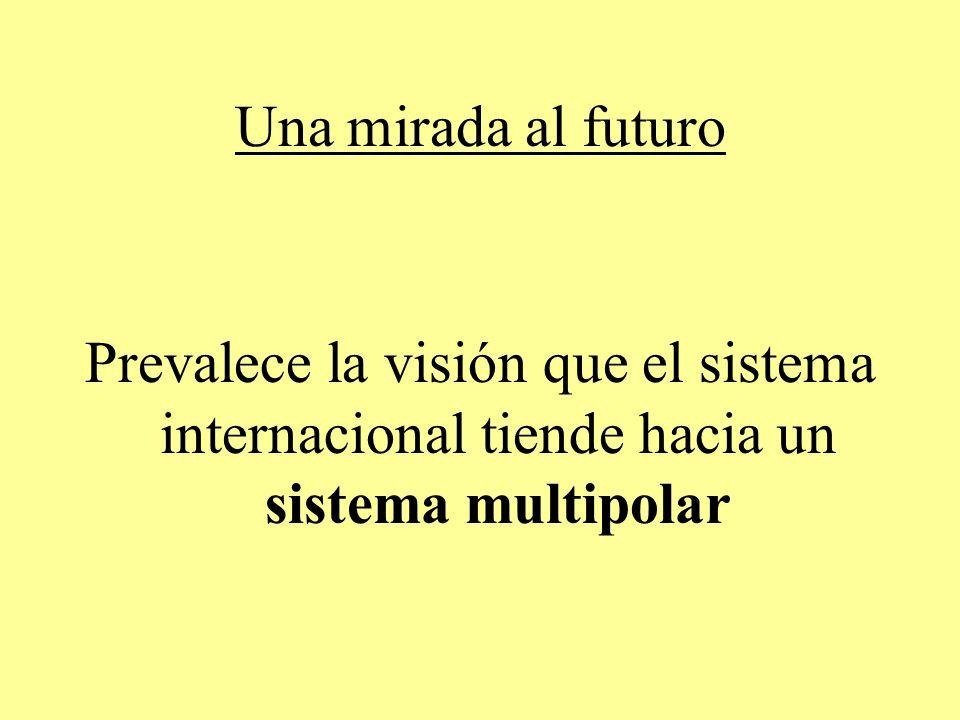 Una mirada al futuro Prevalece la visión que el sistema internacional tiende hacia un sistema multipolar.