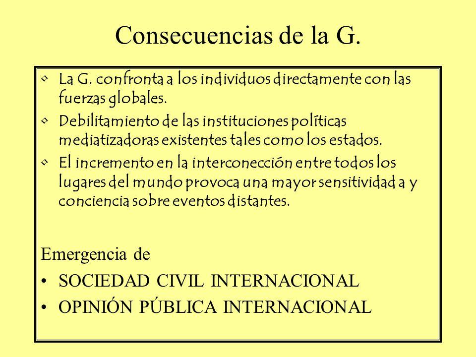Consecuencias de la G. Emergencia de SOCIEDAD CIVIL INTERNACIONAL