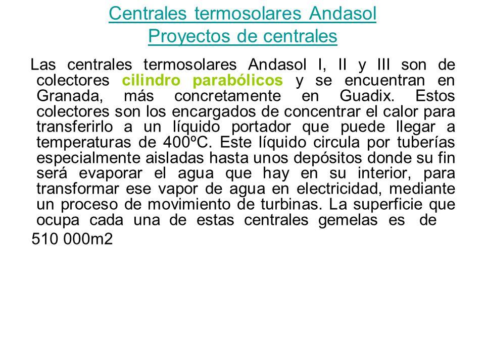 Centrales termosolares Andasol Proyectos de centrales