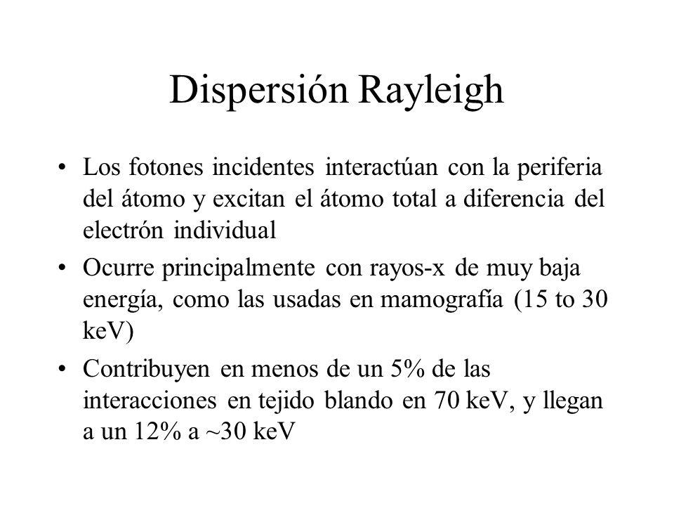 Dispersión Rayleigh Los fotones incidentes interactúan con la periferia del átomo y excitan el átomo total a diferencia del electrón individual.