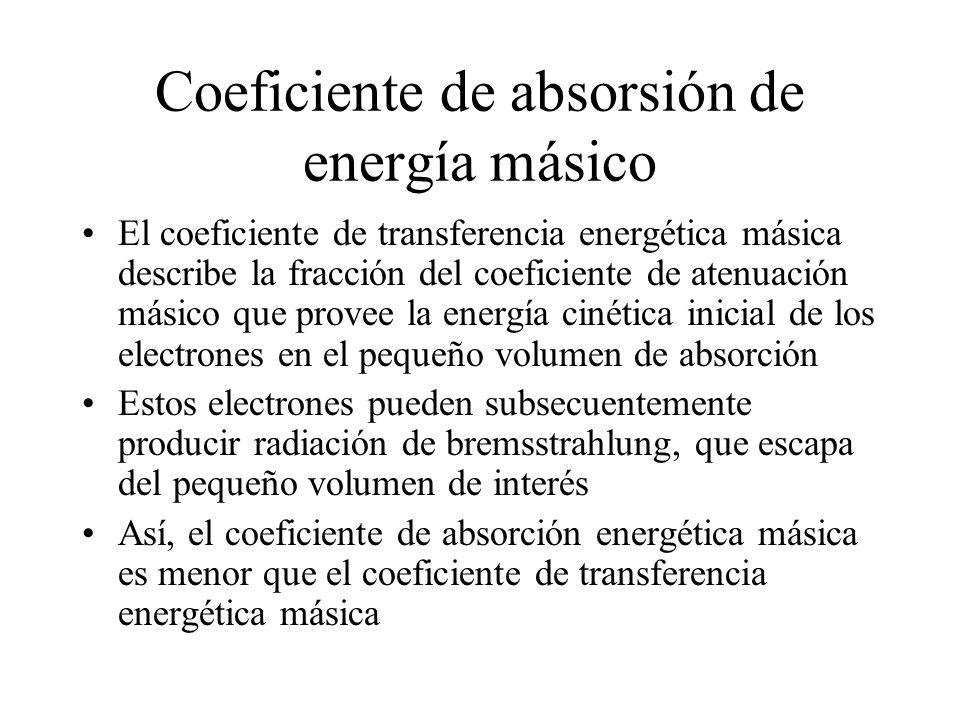 Coeficiente de absorsión de energía másico