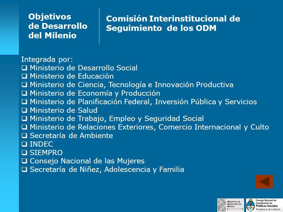 Comisión Interinstitucional de Seguimiento de los ODM