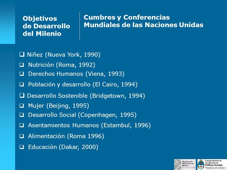 Cumbres y Conferencias Mundiales de las Naciones Unidas