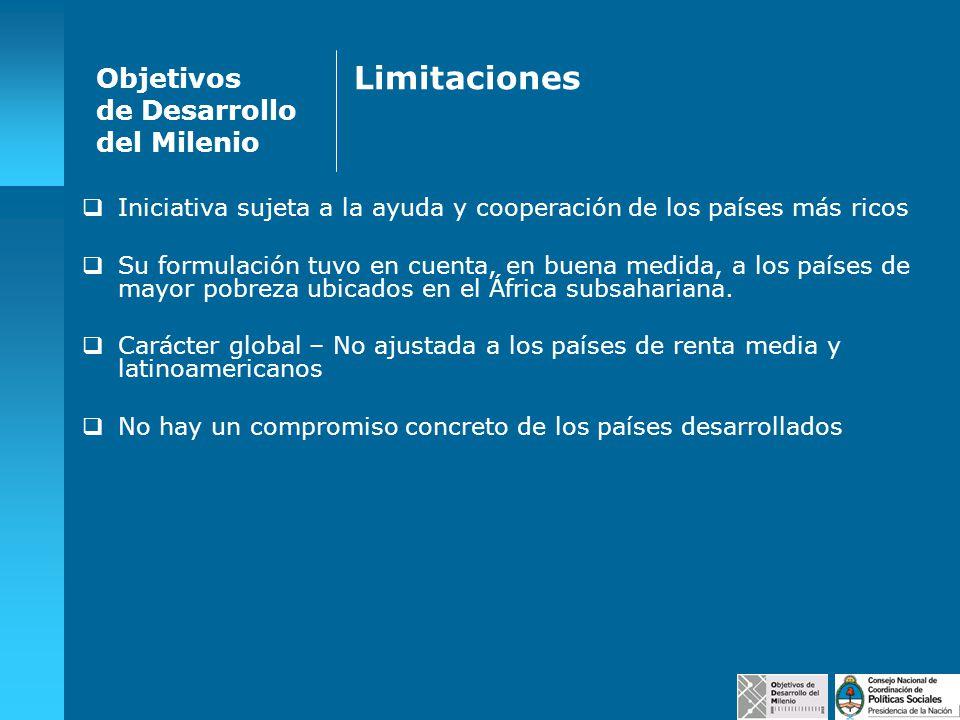 Limitaciones Objetivos de Desarrollo del Milenio