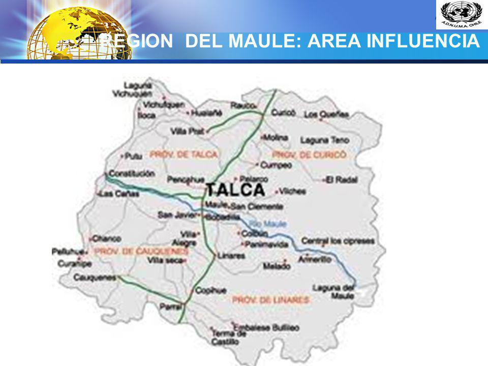 REGION DEL MAULE: AREA INFLUENCIA