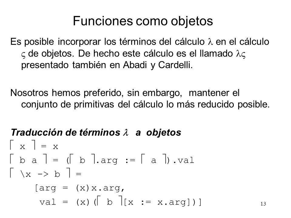 Funciones como objetos
