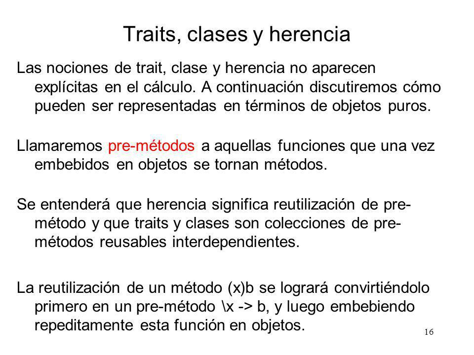 Traits, clases y herencia