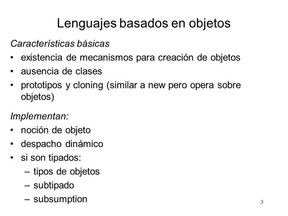 Lenguajes basados en objetos