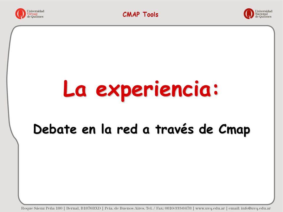 Debate en la red a través de Cmap