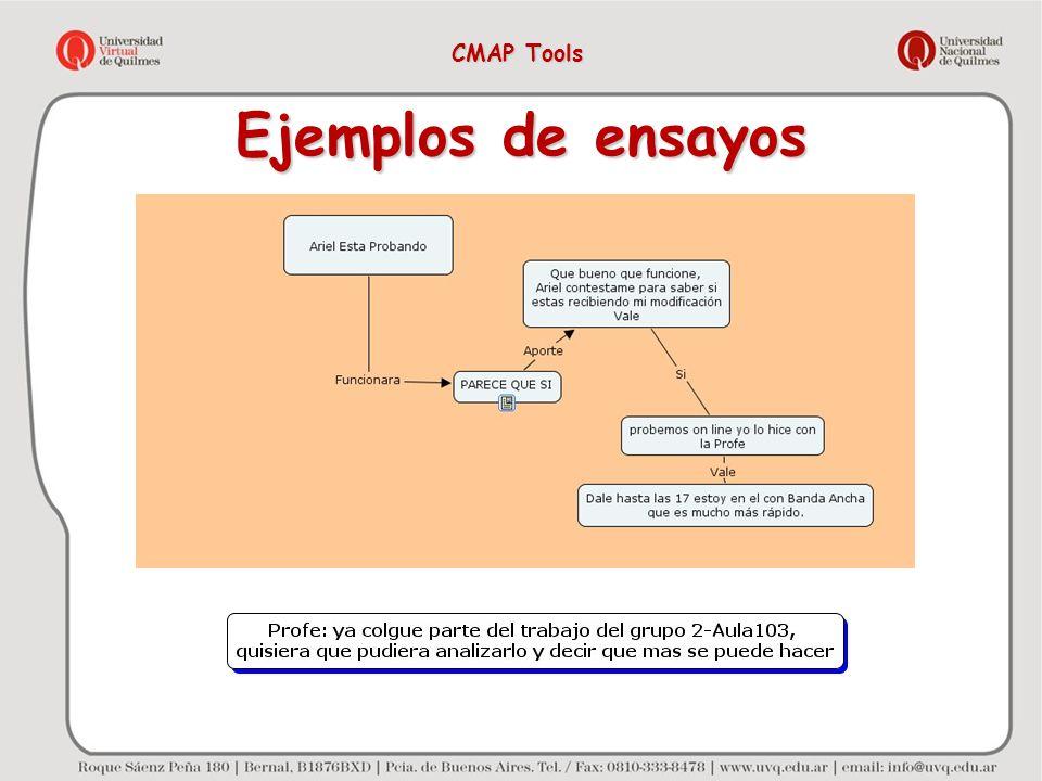 CMAP Tools Ejemplos de ensayos