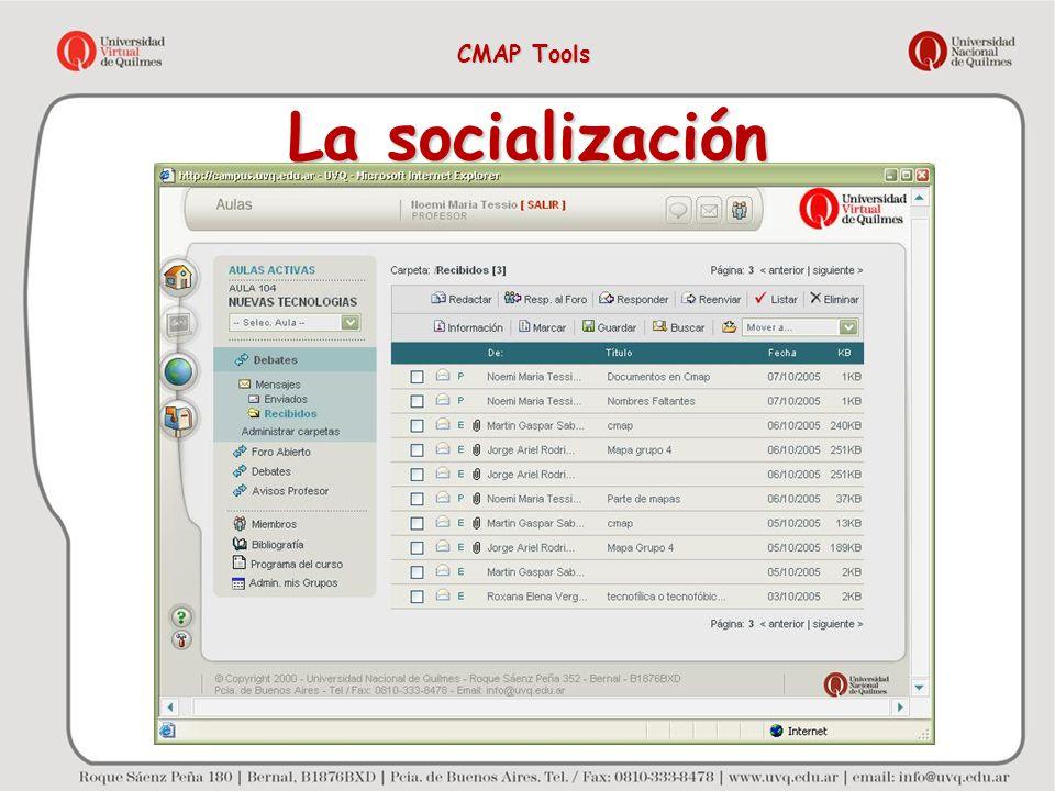 CMAP Tools La socialización