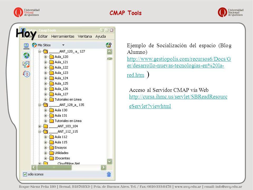 Hoy CMAP Tools Ejemplo de Socialización del espacio (Blog Alumno)