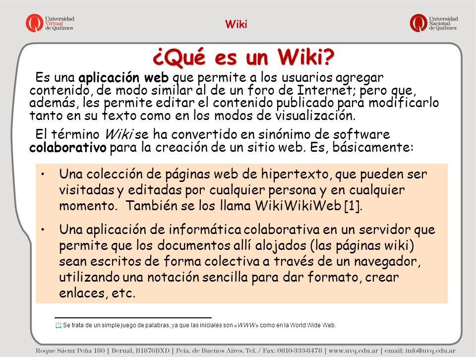 Wiki ¿Qué es un Wiki
