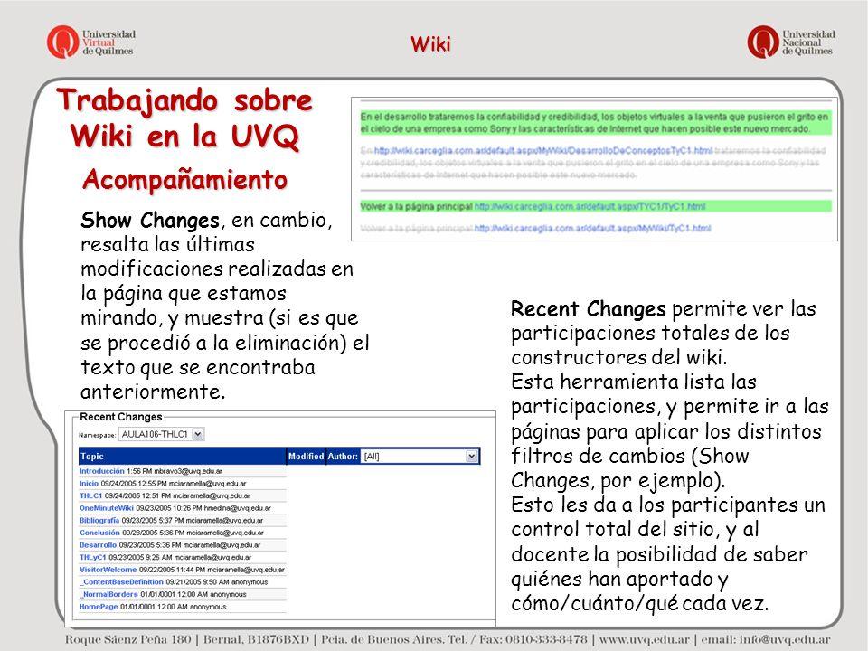 Trabajando sobre Wiki en la UVQ