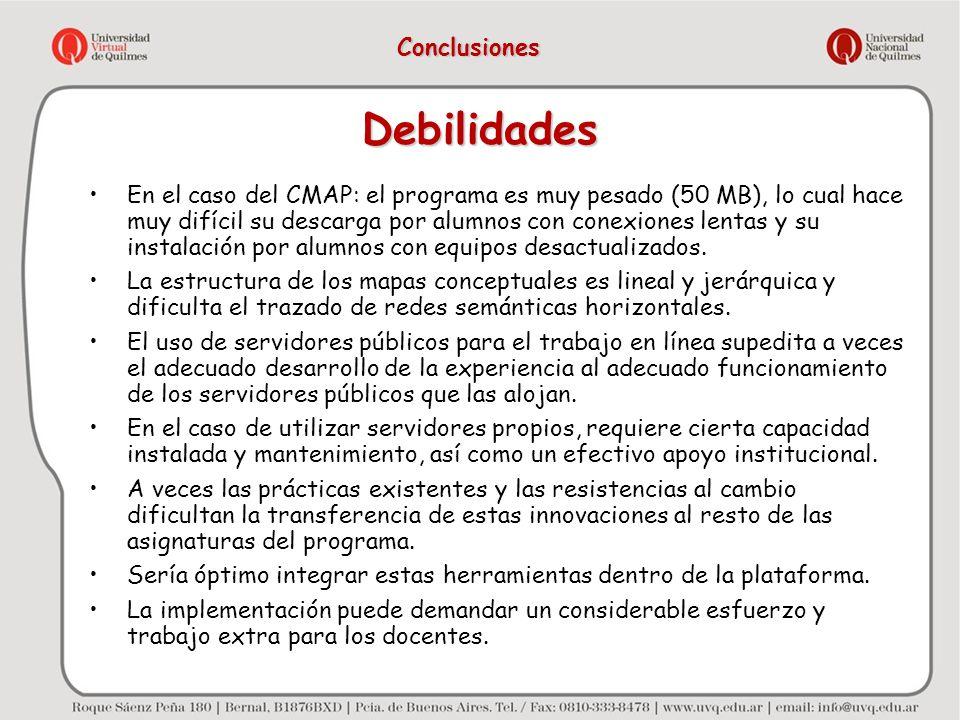 Debilidades Conclusiones