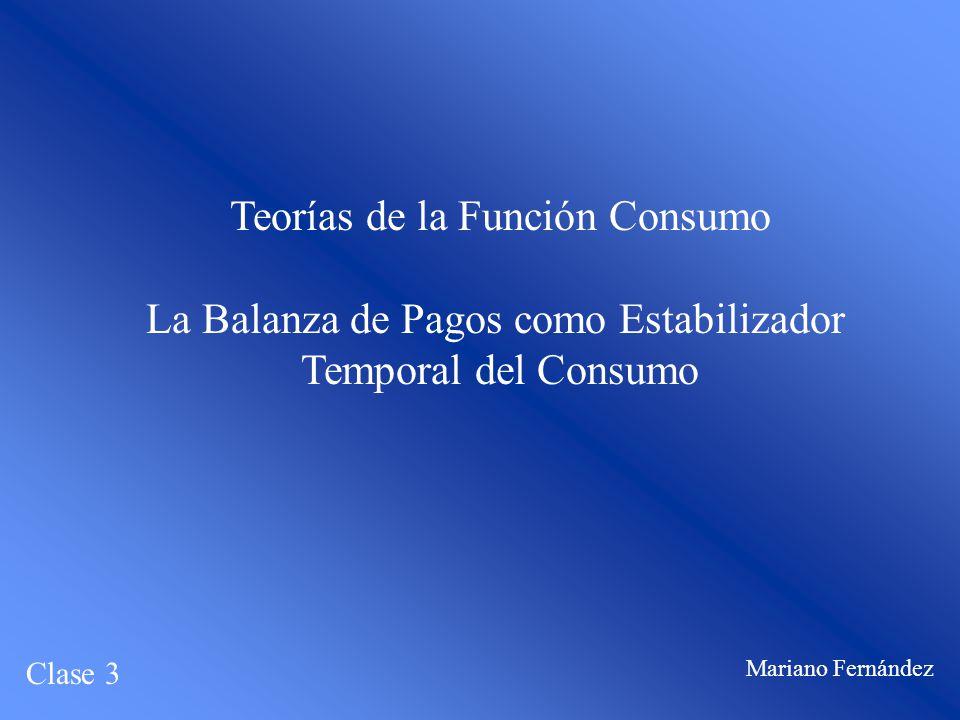 Teorías de la Función Consumo La Balanza de Pagos como Estabilizador