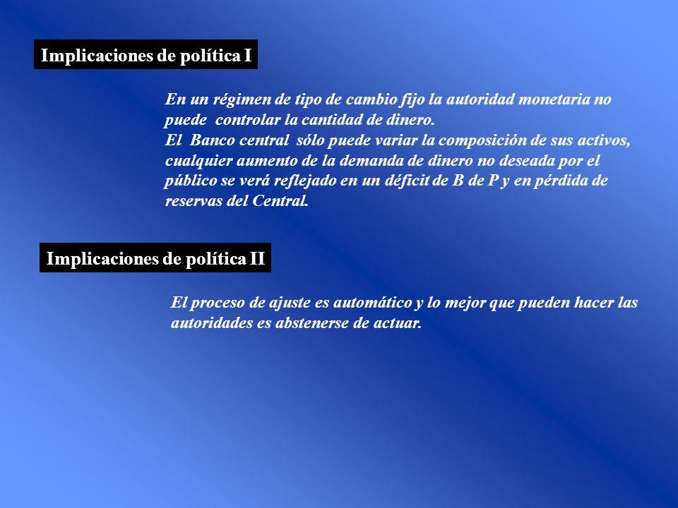 Implicaciones de política I