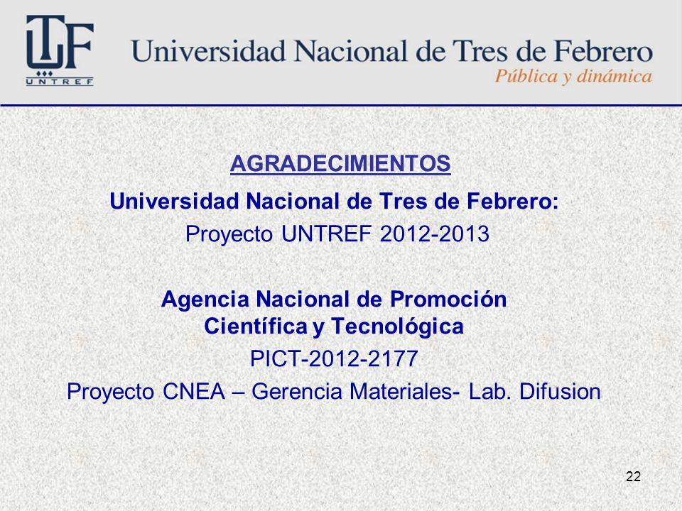 Universidad Nacional de Tres de Febrero: Proyecto UNTREF 2012-2013