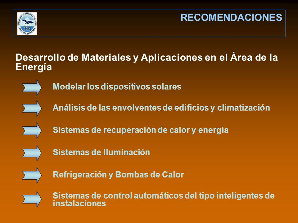 Desarrollo de Materiales y Aplicaciones en el Área de la Energía