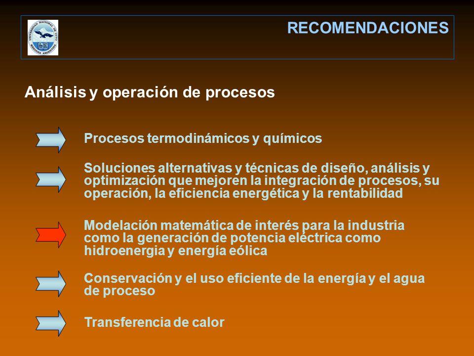 Análisis y operación de procesos