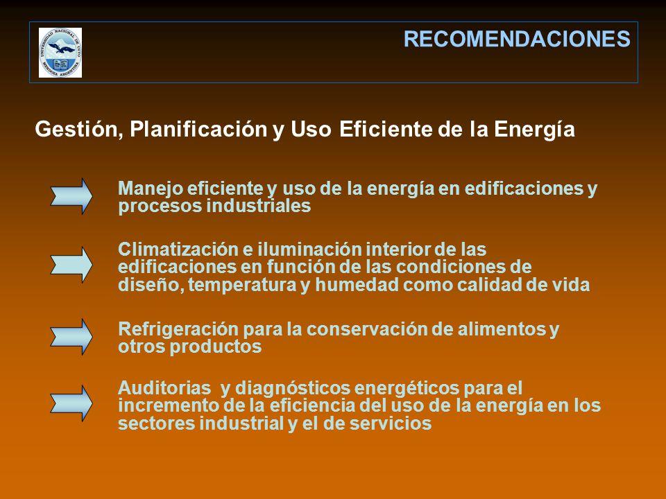 Gestión, Planificación y Uso Eficiente de la Energía