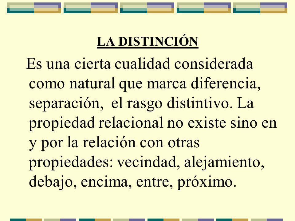LA DISTINCIÓN
