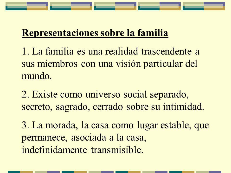 Representaciones sobre la familia