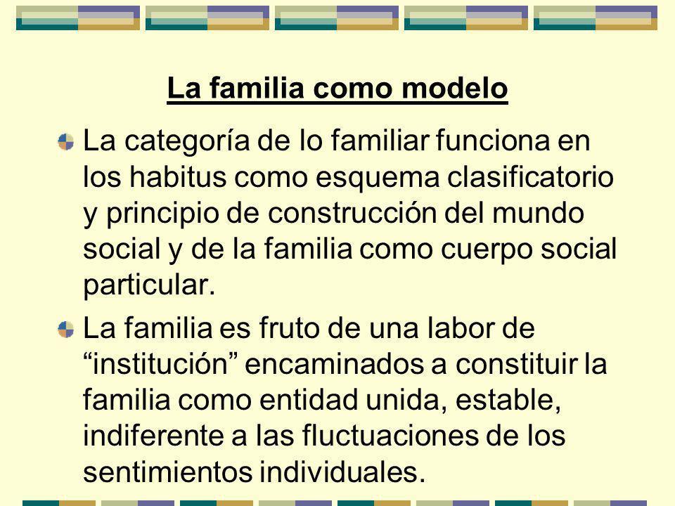 La familia como modelo