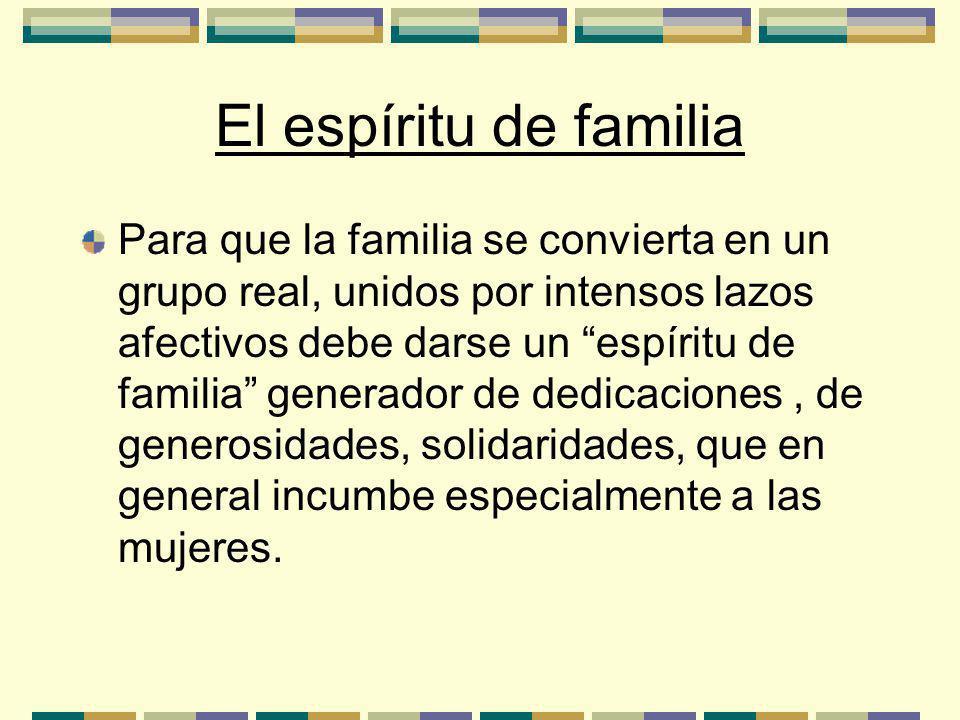 El espíritu de familia