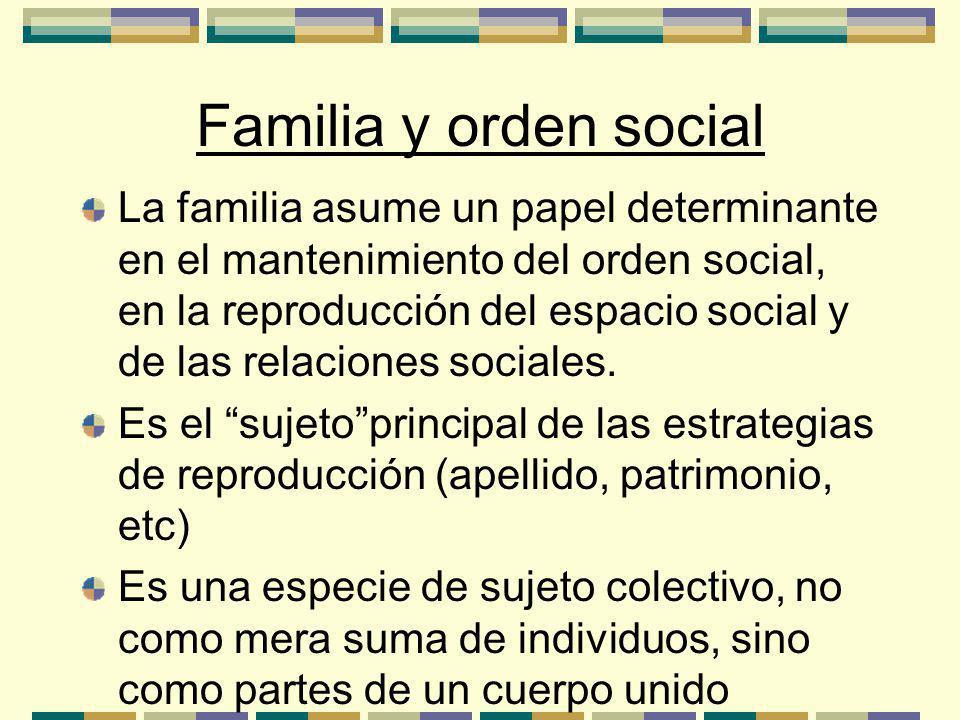 Familia y orden social