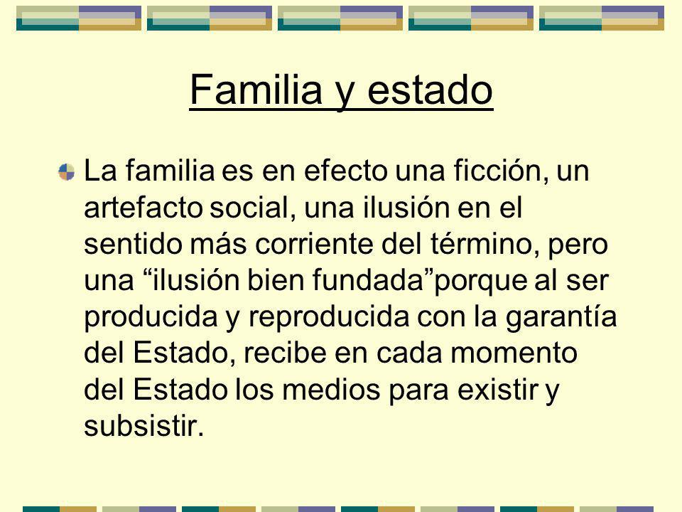 Familia y estado
