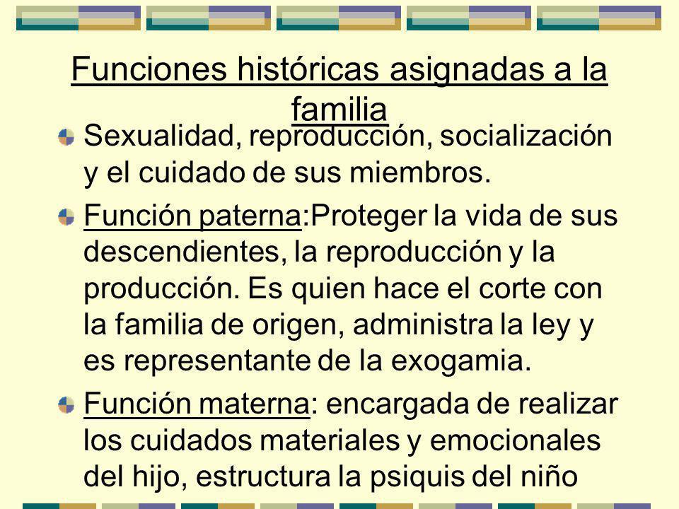 Funciones históricas asignadas a la familia