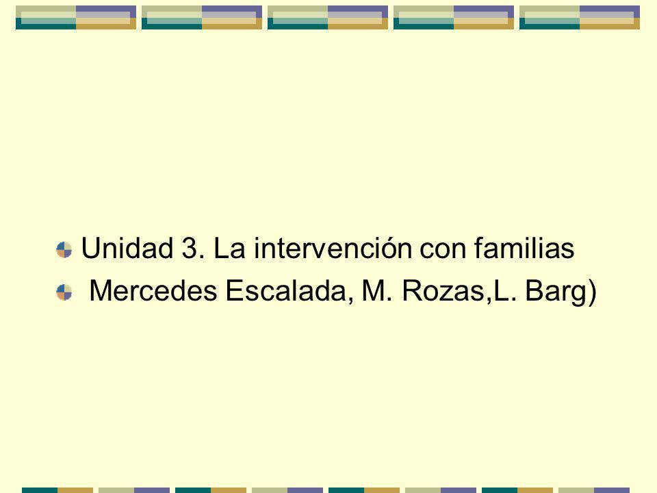 Unidad 3. La intervención con familias