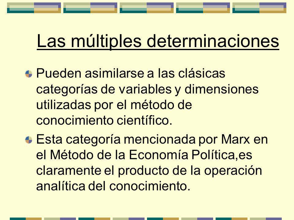 Las múltiples determinaciones