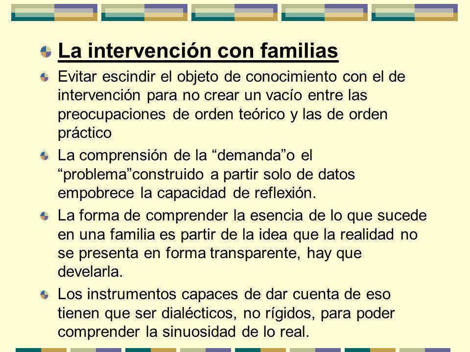 La intervención con familias