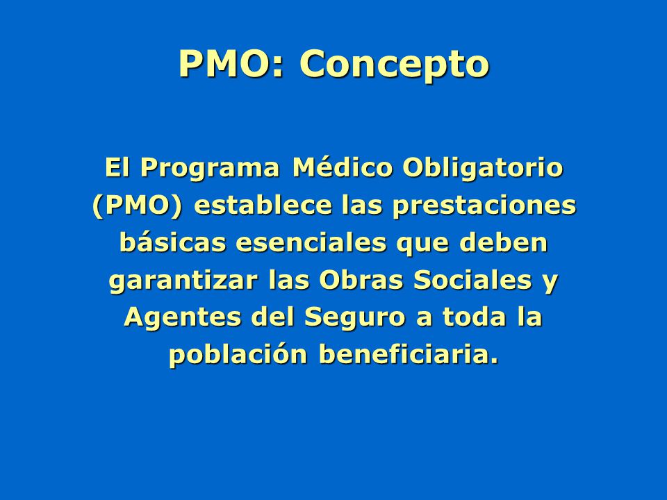 PMO: Concepto
